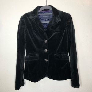 Banana Republic Black Velvet Blazer Size 2